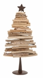 "Driftwood Metal Christmas Tree (Medium) 11""W, 28""H by Woodland Import"