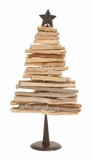 """Driftwood Metal Christmas Tree (Small) 9""""W, 18""""H by Woodland Import"""
