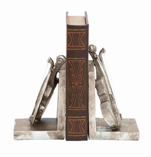 Dublin?s Attractive Violin Bookend Pair Brand Benzara
