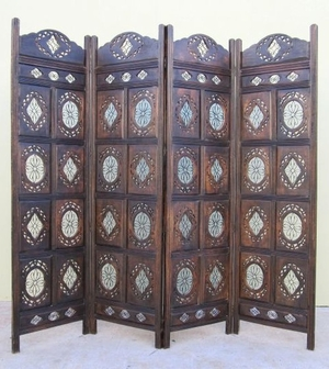 Duisburg Four-Panel Screen, Magnificently Carved Fantastic Decor Creation Brand IOTC