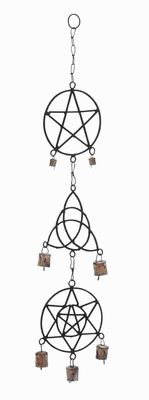 Durable Abstract and Geometric Patterns Shaped Metal Wind Chime Brand Woodland