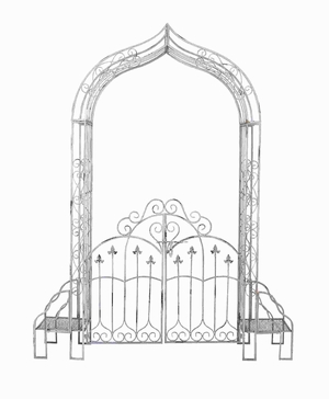 Durable and Long Lasting Metal Garden Gate Brand Woodland