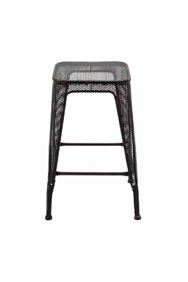 Durable and Multipurpose Black Metal Stool Brand Benzara