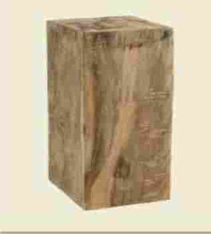 Durable and Portable Block Stool with Sturdy Construction Brand Woodland