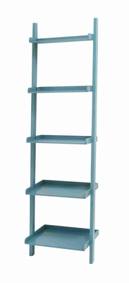 "Durable and Spacious 69""H Wooden Leaning Shelf with Compatibility Brand Woodland"