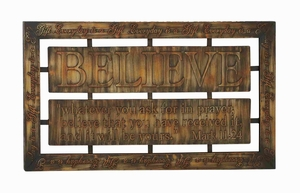 Durable Decorative Metal Wall Decor in Brown with Modern Design Brand Woodland