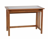 "Durable Wooden 42"" Tool-Less Mission Computer Desk with Glass Top by Office Star"