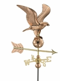 Eagle Garden Weathervane - Polished Copper w/Roof Mount by Good Directions