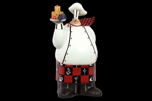 East Chichester's Classy Unique Resin Chef by Urban Trends Collection