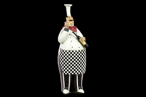 East Salisbury's Interesting Unique Resin Chef by Urban Trends Collection