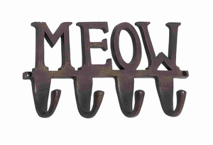 Eastbourne Efficient Meow Wall Hook Creation - 28373 by Benzara