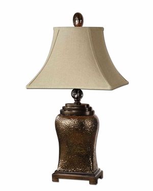 Easton Bronze Table Lamp with Intricate Detailing Brand Uttermost