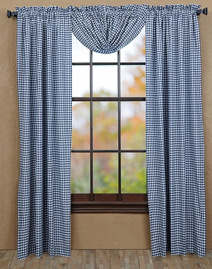 """Eastpointe Panel Check Lined Set of 2 84x40"""" Brand VHC"""