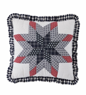 "Eastpointe Pillow Quilted Star with Ruffle 16x16"" Brand VHC"