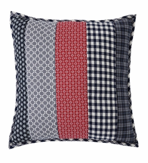 "Eastpointe Pillow Quilted Stripe 16x16"" Brand VHC"
