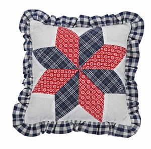 "Eastpointe Pillow Star with Ruffle 10x10"" Brand VHC"