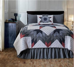 Eastpointe Super King Quilt with Handmade Echo Quilting Brand VHC