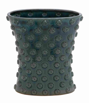 Easy to Install & Intricate Design Ceramic Crackled Vase Brand Woodland