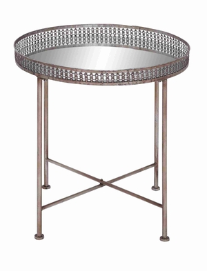 Easy to Move Table with Compact Foldable Feet in Metal Finish Brand Woodland