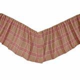 Elaine Rouge Twin Bed Skirt 39x76x16 - VHC Brands 26169