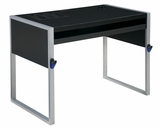 Elara Reversible Top Computer Desk in Silver and Black Top Finish by Office Star