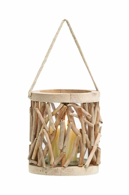 "Elegant and Attractive 7"" Wooden Lantern with Unique Design Brand Woodland"