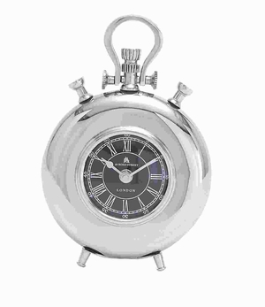Elegant And Classic Style Metal Nickel Plated Table Clock Brand Woodland