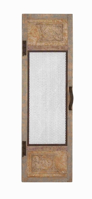 Elegant and Classy Metal Wood Antique Decor Wall Panel Brand Benzara