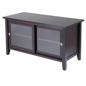 Winsome Wood Elegant and Classy TV Media Stand with sliding cabinet doors