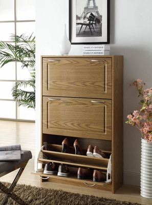 Elegant and Deluxe Double Shoe Wooden Cabinet by 4D Concepts