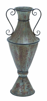 Elegant and Sophisticated Metal Vase with Structured Body Brand Woodland