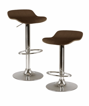 Elegant and Stylish Set of 2 Kallie Air Lift Adjustable Stool by Winsome Woods