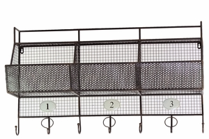 Elegant and Trendy Metal Shelf with Hanger