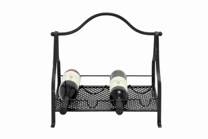 Elegant and Trendy Metal Wine Rack Brand Benzara