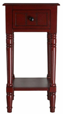 Elegant and Unique One Drawer End Table