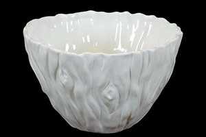 Elegant & Beautiful Ceramic Bowl in White Large