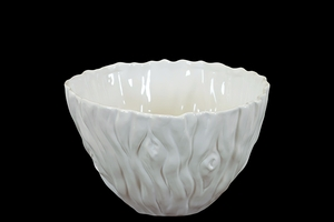 Elegant & Beautiful Ceramic Bowl in White Small