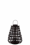 Elegant Chinese Bamboo Lantern in Black Small