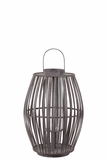 Elegant Chinese Bamboo Lantern in Brown Medium