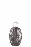 Elegant Chinese Bamboo Lantern in Brown Small