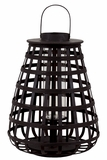 Elegant Chinese Bamboo Lantern w/ Handle in Black Large