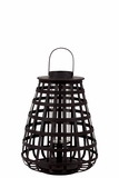 Elegant Chinese Bamboo Lantern w/ Handle in Black Medium