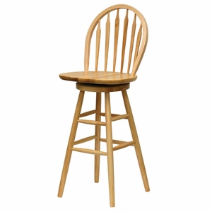 "Elegant High Legged Windsor 30"" Swivel Stool by Winsome Woods"