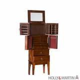 Elegant Holly & Martin Isabella Cherry Jewelry Armoire by Southern Enterprises