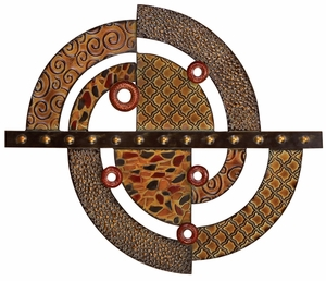 Elegant Metal Wall Decor in Multi Color with Abstract Design Brand Woodland