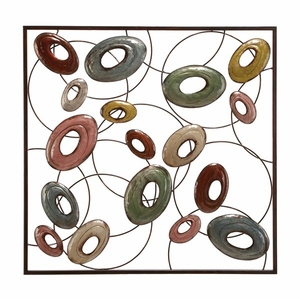 Elegant Metal Wall Decor in Multi Color with Modern Design Brand Woodland