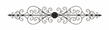 Elegant Metal Wall Plaque Crafted with Intricate Detailing and Classy Look Brand Woodland