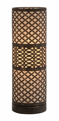 Elegant Modish Styled Metal Cylinder Table Lamp by Woodland Import