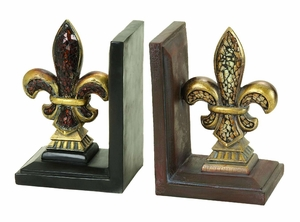 Elegant Poly Resin Bookend Crafted with Artistic Design Brand Woodland