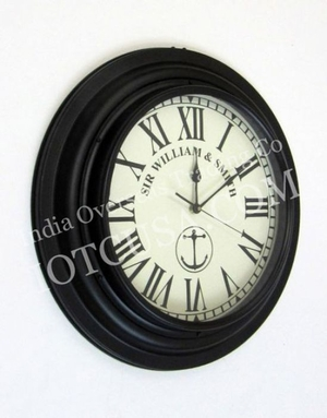 Elegant Round Shape Train Clock Engraved with SIR WILLIAM & SMITH by IOTC